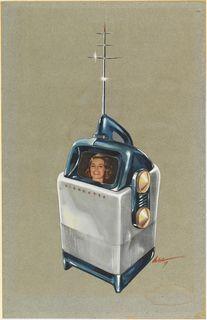 Design for Visionette Portable Television, 1947 - Richard Arbib
