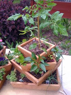 My Favorite Wood Planter by ourwhimsicalgarden on Etsy, $79.95 I want ...