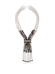 MINU Jewels Onyx and Silver Chain Necklace at MYHABIT