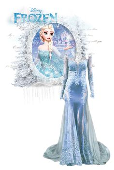 """""""Only an act of true love can thaw a frozen heart"""" by autumnred ❤ liked on Polyvore featuring Disney, disney, frozen and elsa"""