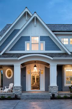 James Hardie siding and trim. The trim color is Arctic White.
