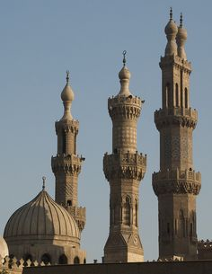 Mosque minarets in old Cairo, Egypt (by future15pic).