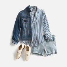 Explore (literally) hundreds of outfit ideas in the stitch fix inspiration Cute Fashion, Look Fashion, Fashion Outfits, Fashion Ideas, Pretty Outfits, Cute Outfits, Lisa, Double Denim, Stitch Fix Outfits