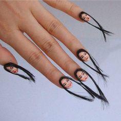 Hair raising nails
