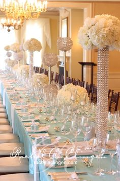 love the center pieces just not the layout of the table..