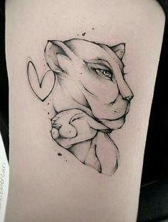 Mom Baby Tattoo, Tattoo Mama, Cubs Tattoo, Mommy Tattoos, Girl Arm Tattoos, Baby Tattoos, Lion Tattoo, Mini Tattoos, Piercing Tattoo