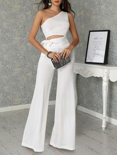Fashion Pure Colour Sleeveless Jumpsuit – ebuychic