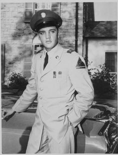 Elvis was inducted into the U.S. Army in March 1958. He spent time overseas in Germany.