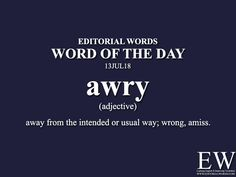 Word of the - Editorial Words Good Vocabulary Words, Grammar And Vocabulary, English Adjectives, English Idioms, Learn English Words, English Phrases, Words To Use, New Words, Hindi Language Learning