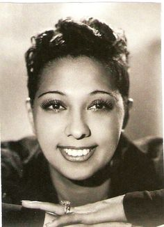 Josephine Baker (1906 - 1975) - An American-born French dancer, singer, and actress. She became a citizen of France in 1937. Fluent in both English and French, Baker became an international musical and political icon. The first African American female to star in a major motion picture.Assisted the French Resistance during World War II,and for being the first American-born woman to receive the French military honor, the Croix de guerre.