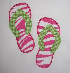 Flip Flops machine Embroidery Design by theappliquediva on Etsy, $2.99