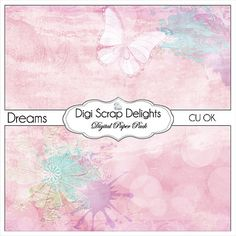 50% OFF TODAY Dreams Scrapbook Paper for by DigiScrapDelights