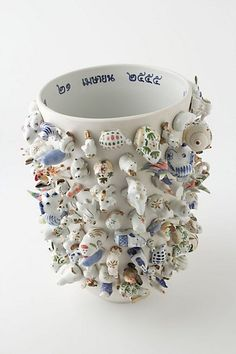 I am convinced I can recreate this vase for a fraction of the price...but it doesn't mean I wish I could just go to Anthropologie and buy it for $1000!