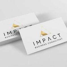 Gold foil look logo design for Impact Business Consultant ✨ . Business Branding, Business Design, Elegant Logo Design, Consulting Logo, Website Ideas, Logo Ideas, Gold Foil, Nba, Identity