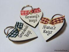 Handmade personalised keyring for Mum, Granny, Nana, Grandma