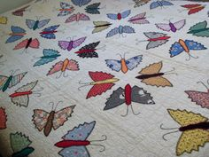 An incredible butterfly quilt from ebay -- couldn't afford it, but it sure was fun to look at!