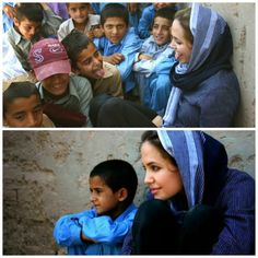Angelina Jolie, ambassador to children everywhere. So inspiring.
