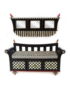 COURTLY CHECK BOOT BENCH