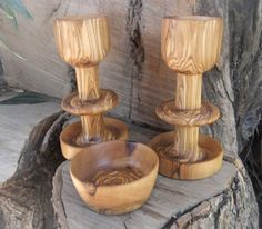 His & Hers personalized egg cup and salt bowl by ellenisworkshop, $97.00