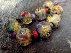 °°jasmin french°° lampwork beads  prickly mind  on ebay.com