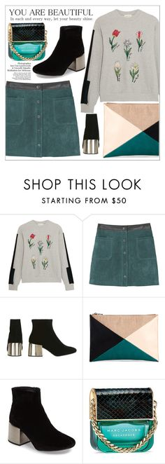 """spring hope"" by dotty-28 ❤ liked on Polyvore featuring Steve J & Yoni P, MANGO, Topshop, Sole Society, Marc Jacobs, Spring, floral and skirt"