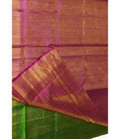 Pink Handloom Upadda Pattu Silk Saree