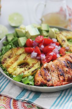 Sriracha Lime Chicken Chopped Salad.