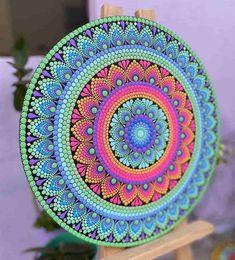 Mandala Canvas, Mandala Artwork, Mandala Painting, Dot Painting Tools, Dot Art Painting, Mandala Art Lesson, Mandala Drawing, Arte Country, Girly Drawings