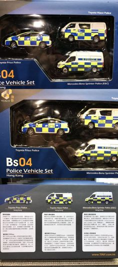 Diecast Toy Vehicles 51023: Tiny Diecast Model Car Bs04 Hong Kong Police Toyota Mercedes Benz Vehicle Set -> BUY IT NOW ONLY: $42.99 on eBay!