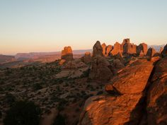 Arches National Park - the view southeast from North Window at...