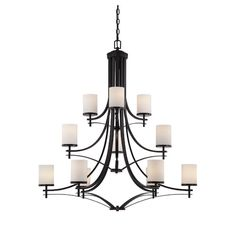 Found it at Wayfair - Agnes 12 Light Shaded Chandelier