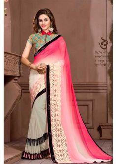 couleur grise georgette saree, - 81,00 €, #SariIndou #RobeBollywood #LaModeExclusive #Shopkund