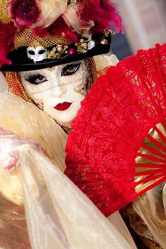 Rosheim Carnival - IX by Mathias Pasquino on Venetian Carnival Masks, Carnival Of Venice, Venetian Masquerade, Circus Music, Dark Circus, Costumes Around The World, Beautiful Mask, Shades Of Red, Playing Dress Up
