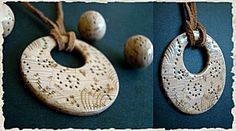 Polymer clay tutorial by Fimo Feerie - Faux carved ivory pendant Polymer Clay Creations, Polymer Clay Crafts, Polymer Clay Pendant, Polymer Clay Jewelry, Salt Dough Jewelry, Ceramic Jewelry, Clay Tutorials, Ivoire, Metal Clay