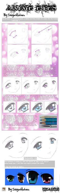 Olhos de mangá...