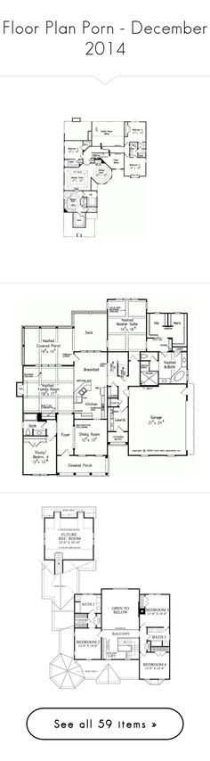 """""""Floor Plan Porn - December 2014"""" by lynnspinterest ❤ liked on Polyvore featuring fillers, articles, blueprint, floor plans, home, backgrounds, house plans, plan, text and phrase"""