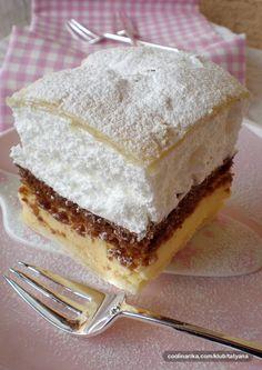 Jelina krempita — Coolinarika Cookie Desserts, Sweet Desserts, Sweet Recipes, Delicious Desserts, Dessert Recipes, Wine Recipes, Cooking Recipes, Bosnian Recipes, Kolaci I Torte
