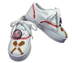 Boys or Girls Baseball Team Canvas Lace Up Shoes