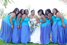 ombre bridesmaid dresses | Ombré Bridesmaids Dresses | wedding color ideas