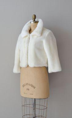 Borra plush jacket / 60s faux fur coat / vintage by DearGolden, $54.00