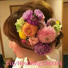 成人式の髪飾りオーダーについてと髪型まとめ の画像 City Wedding 大阪 梅田、京都、神戸 ブライダルヘアメイク出張 ☆ヘアメイクアーティストモリの美女採集