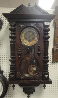 Moore, Allen & Innocent : A circa 1900 walnut cased Vienna type regulator wall : Online Auction Catalogue