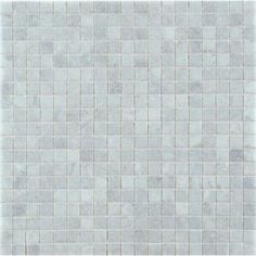 "Ann Sacks. Blue Celeste 9/16"" stacked mosaic in honed finish about $50 - $60 per sq ft"
