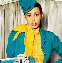 Hot Gorgeous Vintage Stewardess Photo