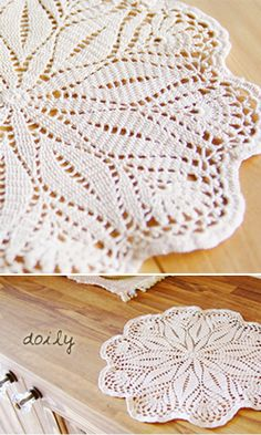 Crochet doily. Japanese diagram.