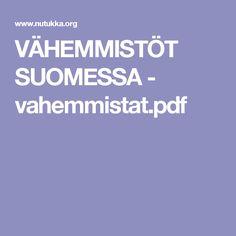 VÄHEMMISTÖT SUOMESSA  - vahemmistat.pdf