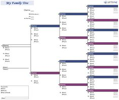 Create a 4-generation family tree with Excel.
