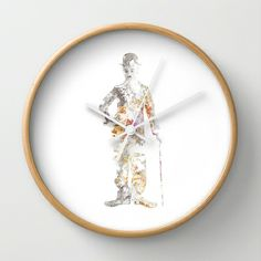 Chaplin Wall Clock by Lapierre Eric - $30.00