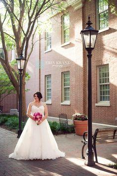 Davidson bridal portrait - Erin Kranz Photography - Charlotte wedding photographer