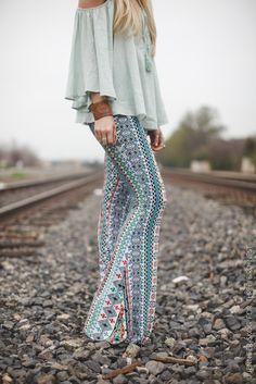 Urban Boho Stretch Flared Pants by Three Bird Nest | Women's Boho Clothing Boutique